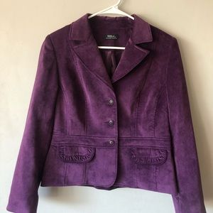 Tribal Purple Women's Cropped Blazer